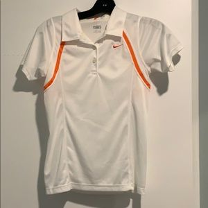 Nike FitDry White and Orange Golf Tee!